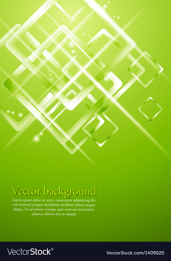 Light green geometrical design vector image