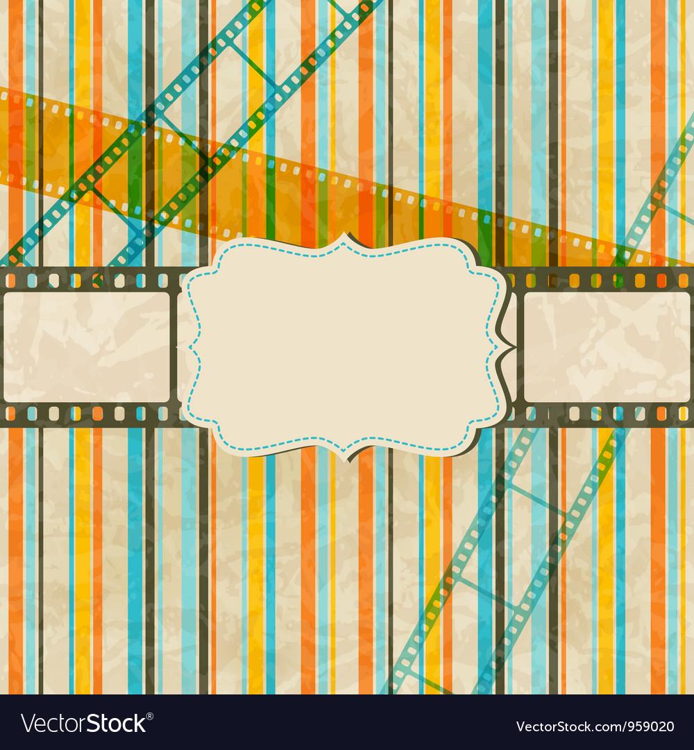 Vintage scratch background with film frame Eps 10 vector image