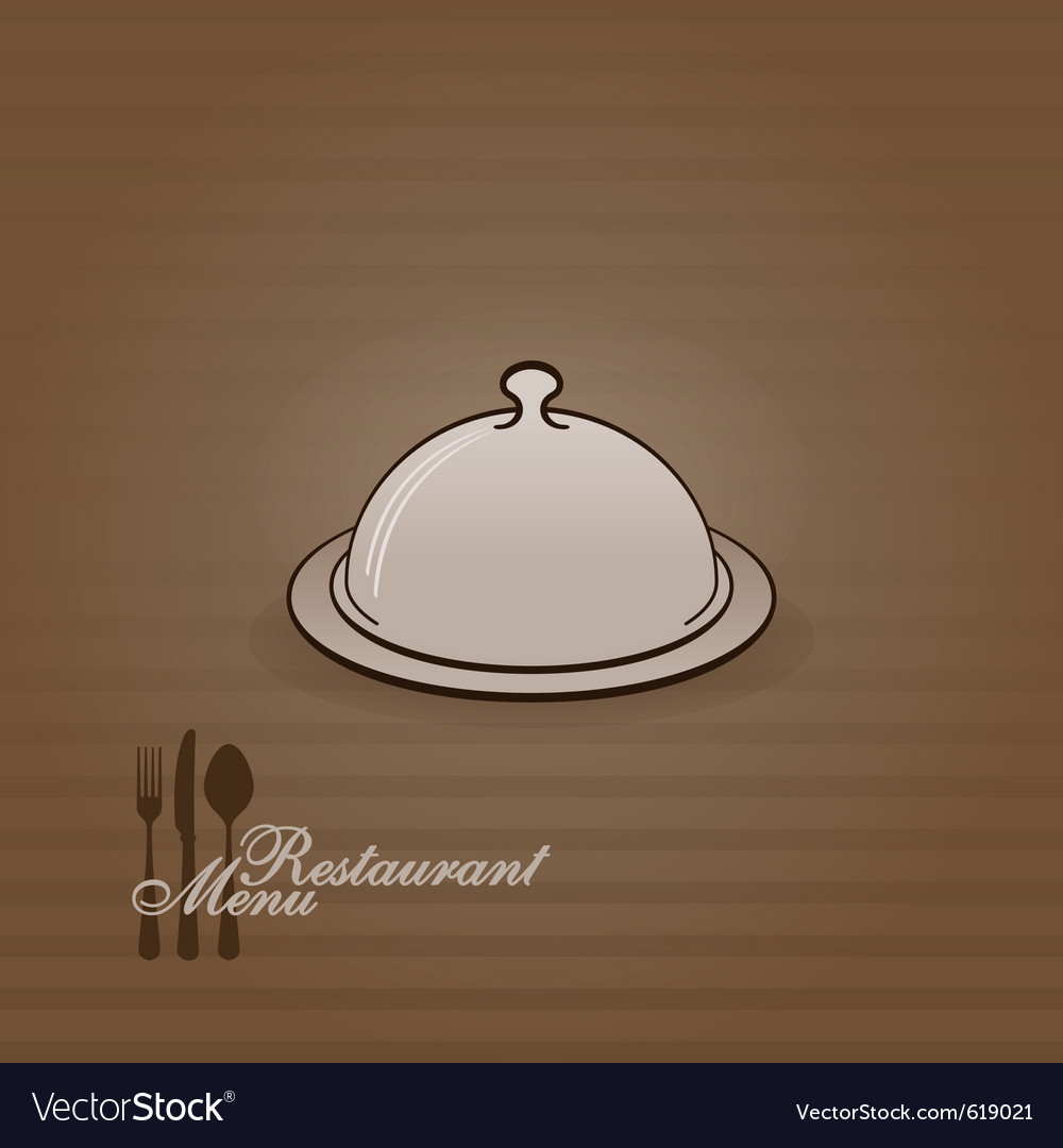 Menu with cover vector image
