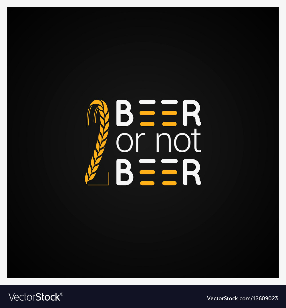 Beer Concept Logo Design Background vector image