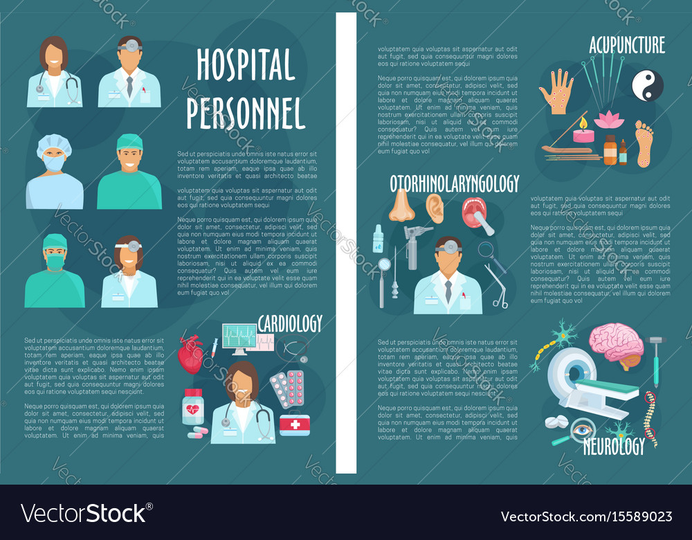 Medical Or Hospital Healthcare Brochure Royalty Free Vector