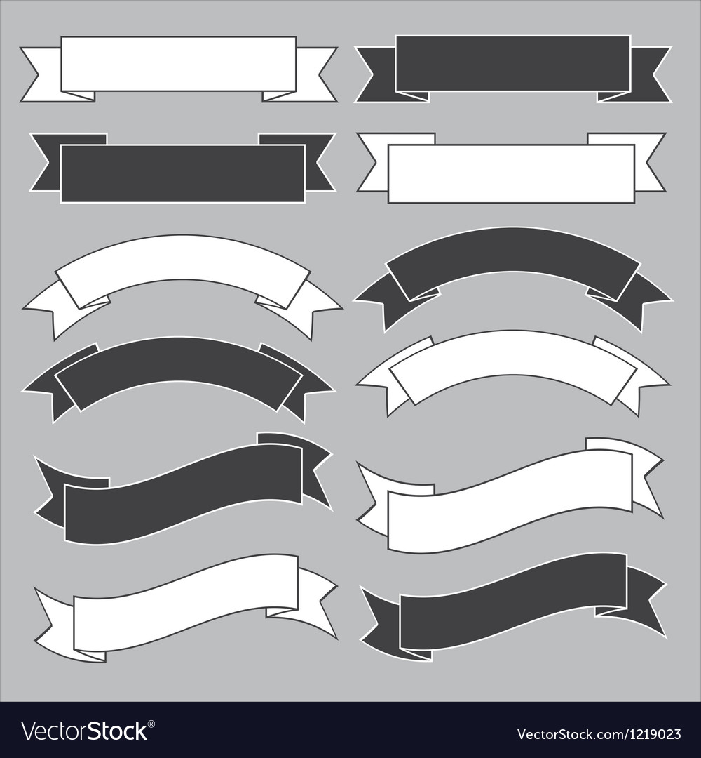 Old ribbon banner vector image