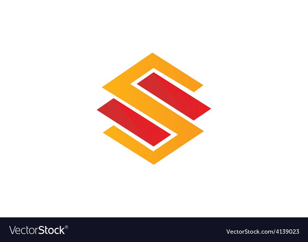 S letter logo building construction logo vector image