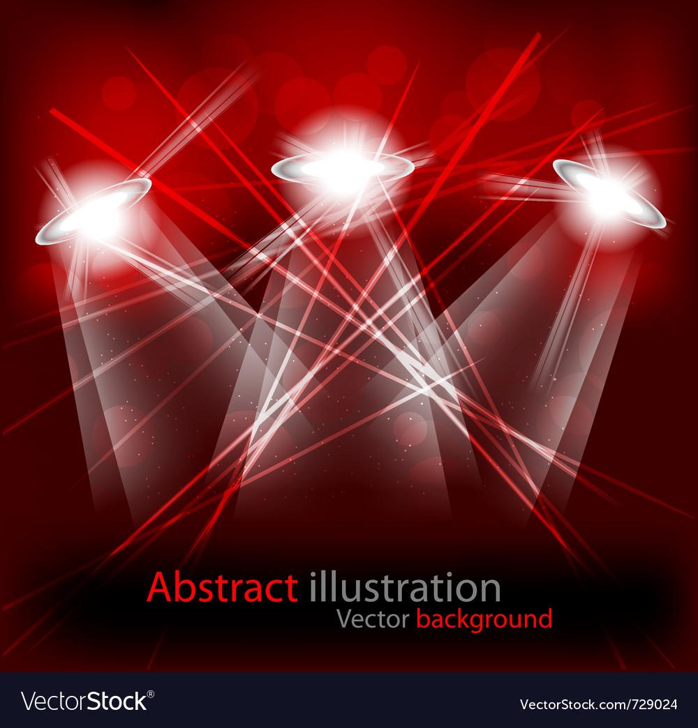 Bright lights vector image