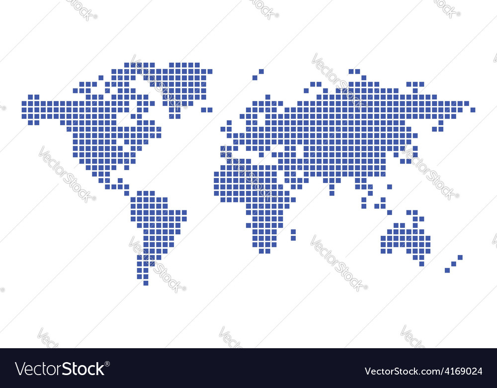 Dark blue map of world squares royalty free vector image dark blue map of world squares vector image gumiabroncs Image collections