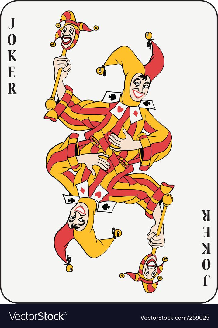 Double joker vector image