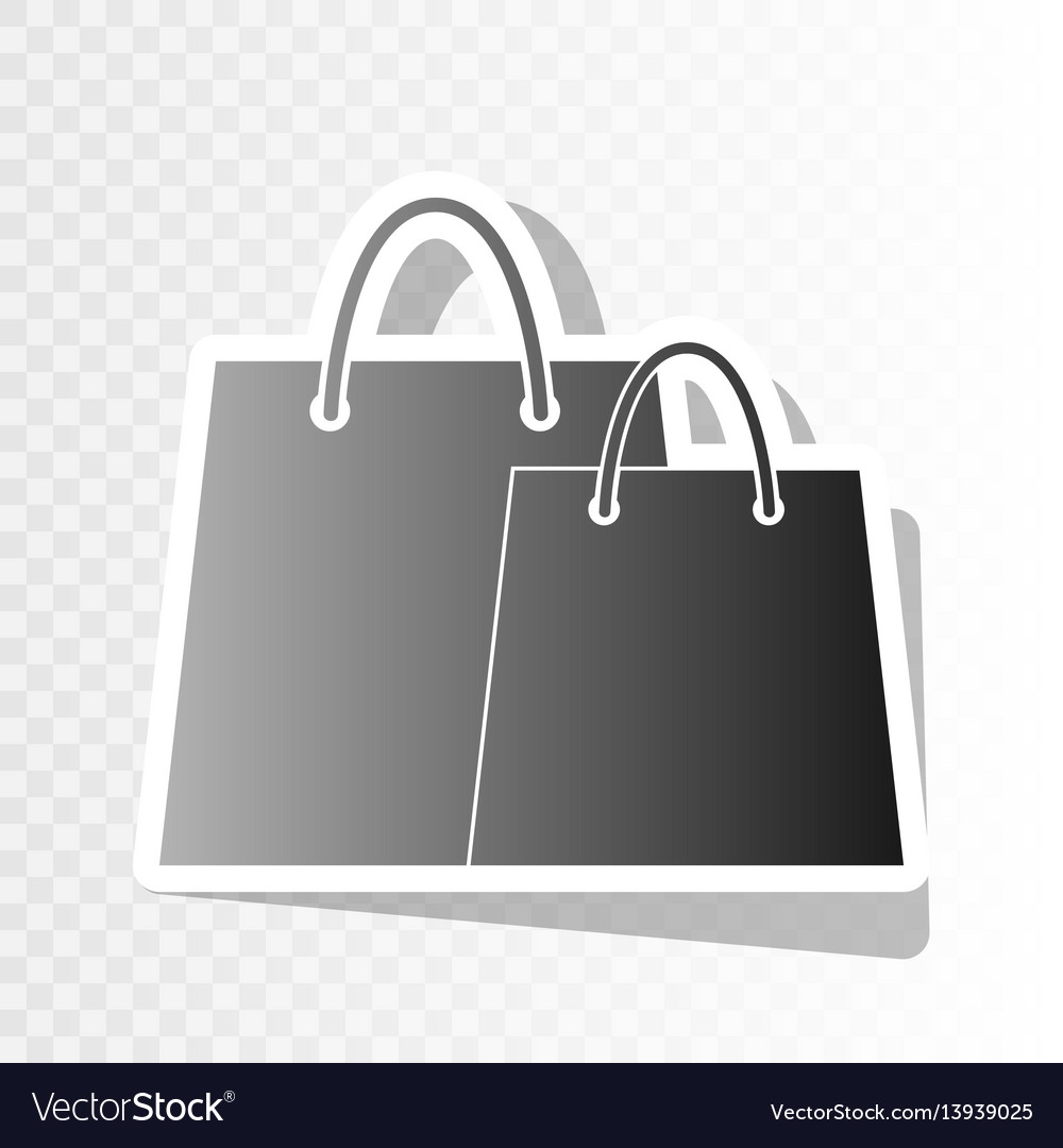 Shopping bags sign new year blackish icon vector image
