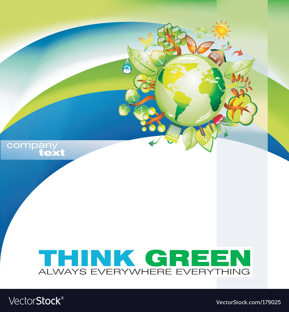 Thinkgreen vector image