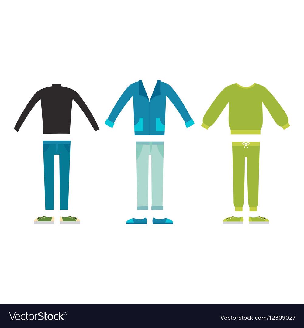 Beautiful cartoon fashion male cloth vector image
