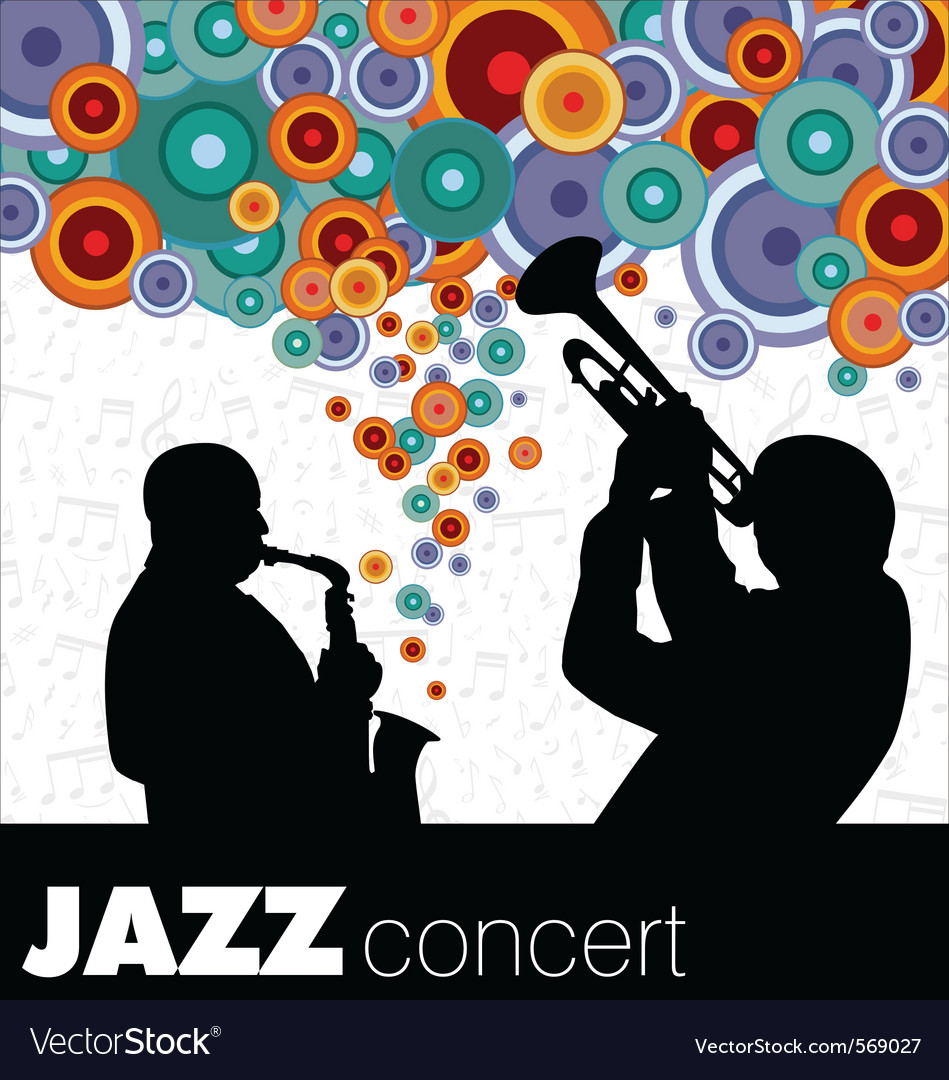 Jazz musicians background vector image