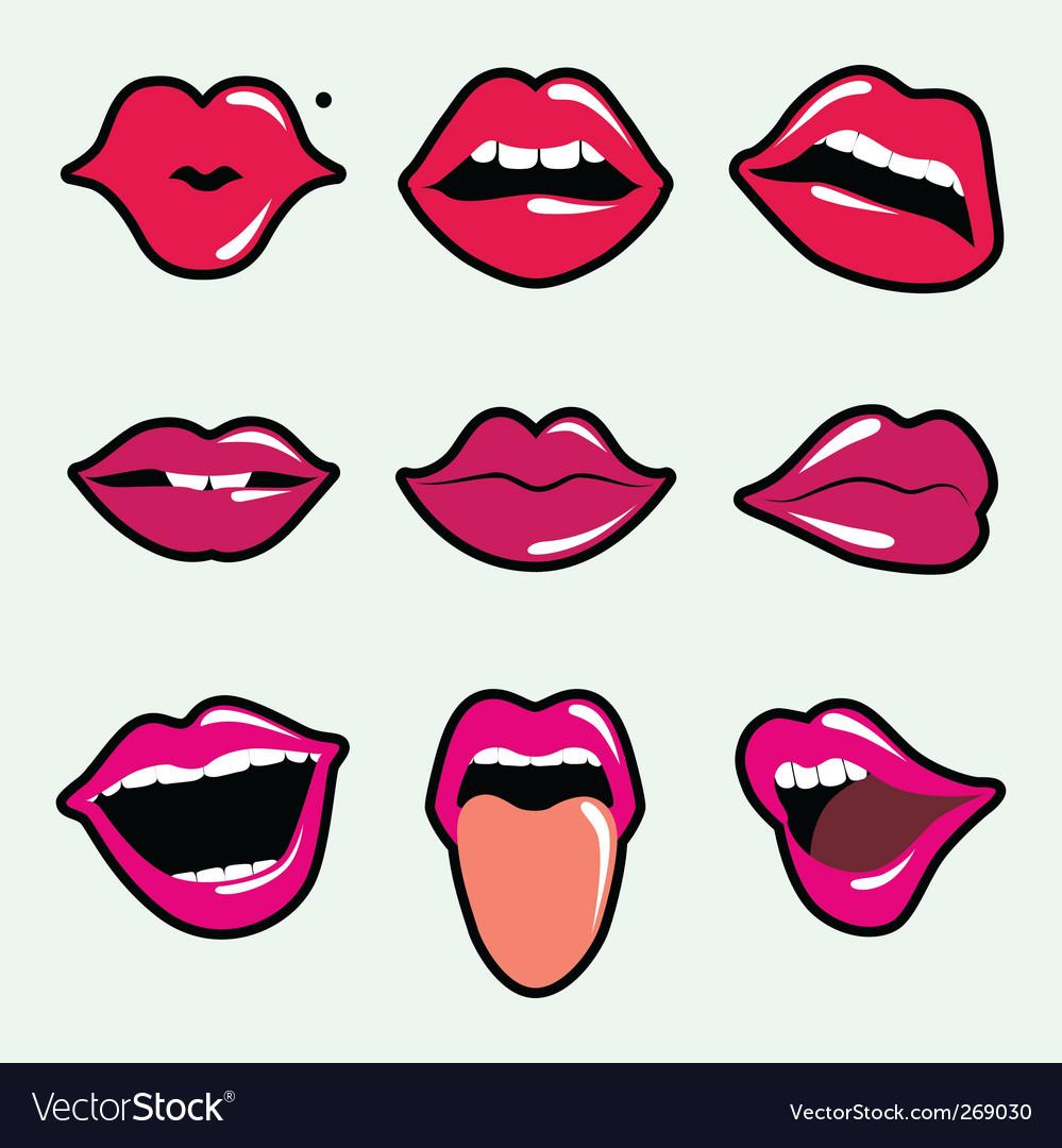 Lips vector image