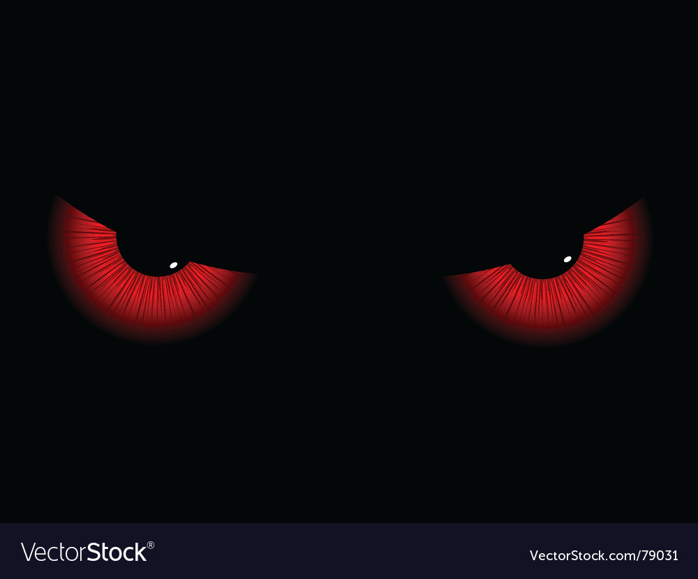 Evil eyes Vector Image