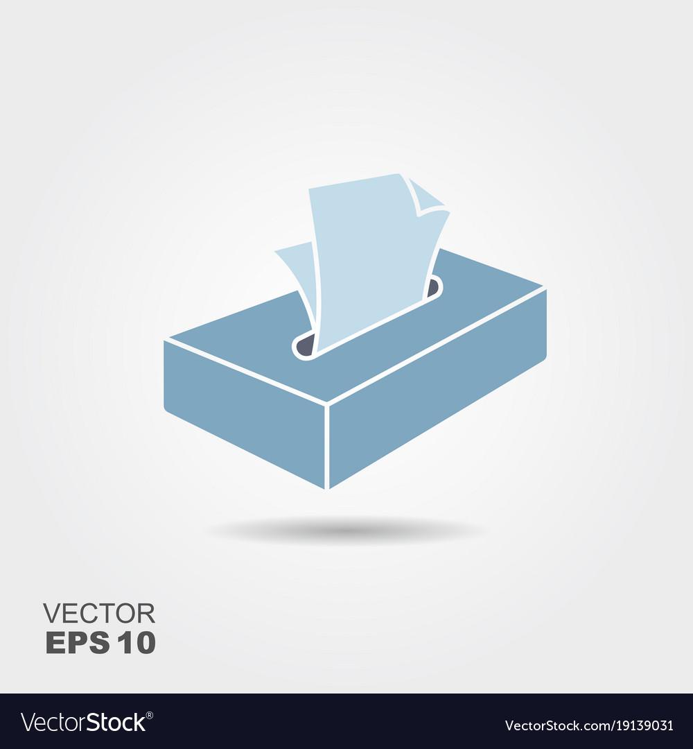 Cartoon tissue box vector image