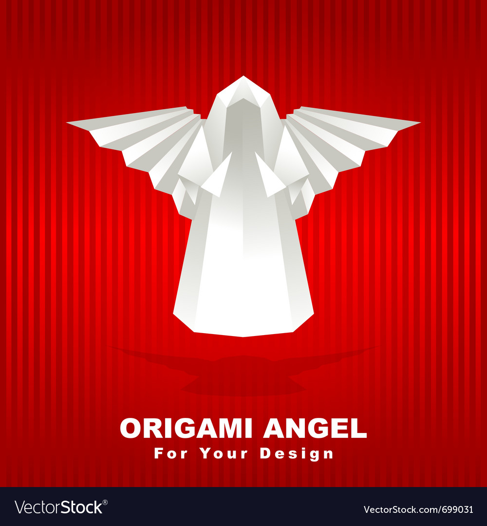 Origami angel vector image