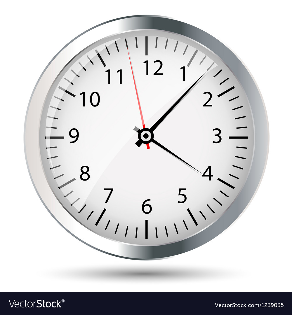 Silver watch vector image