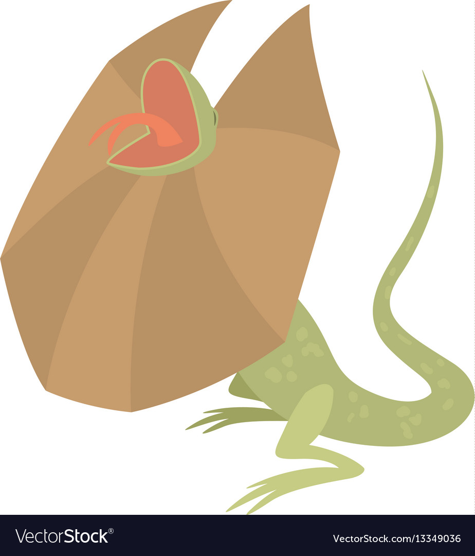 Frill necked lizard icon cartoon style vector image