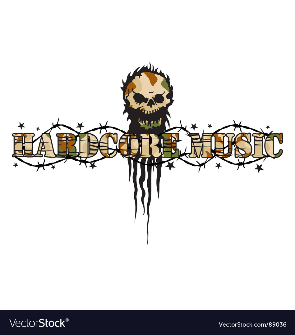 Hardcore vector image