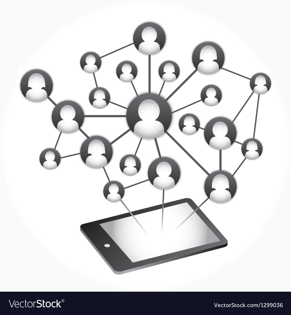 Social Media Abstract Communication vector image