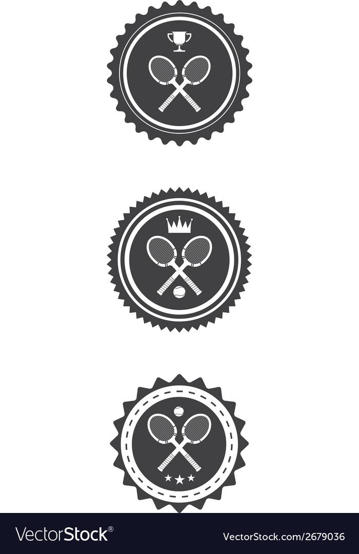 Tennis Badges vector image