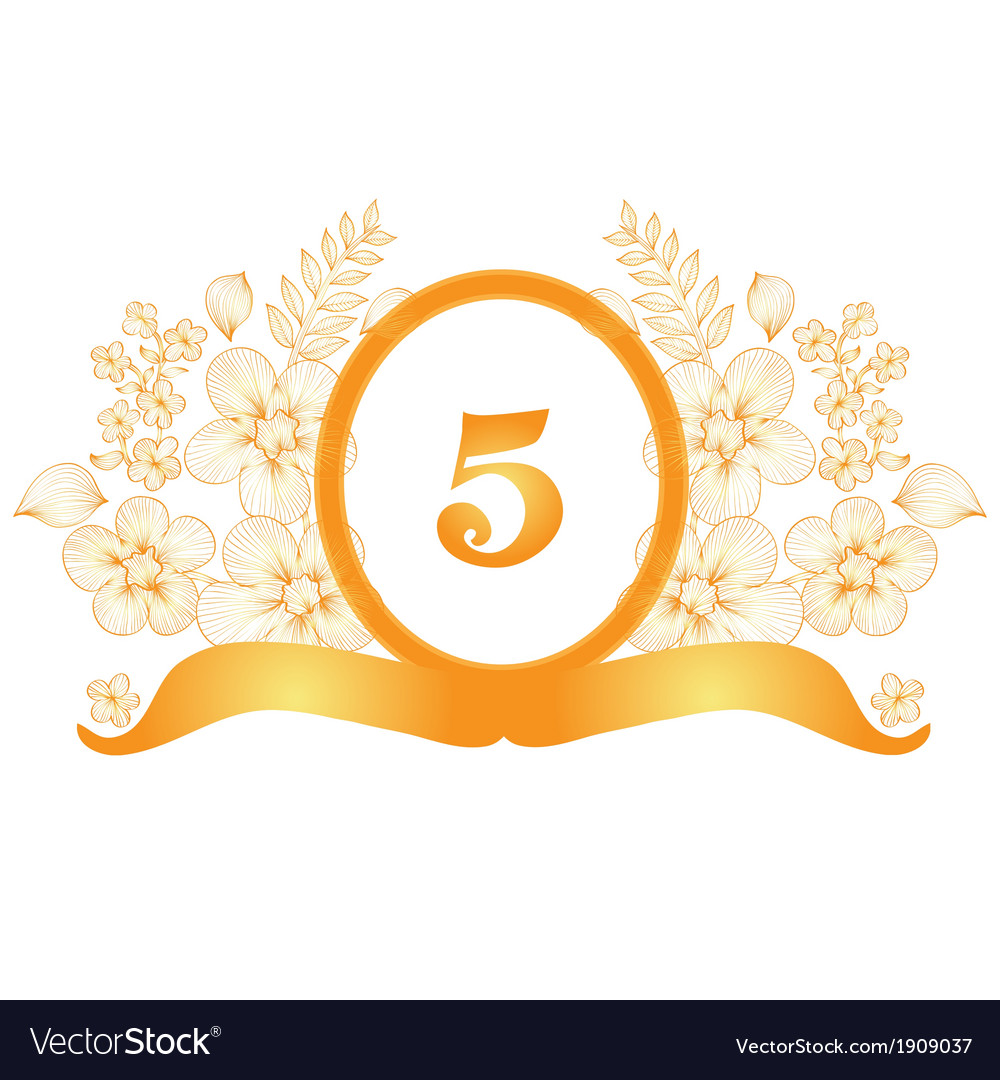 5th Year Anniversary: 5th Anniversary Banner Royalty Free Vector Image
