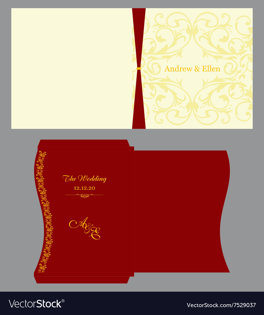 Floral square invitation with envelope royalty free vector floral square invitation with envelope vector image stopboris Choice Image