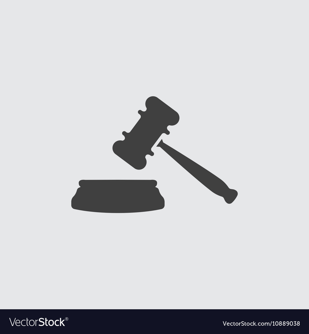 Auction icon vector image