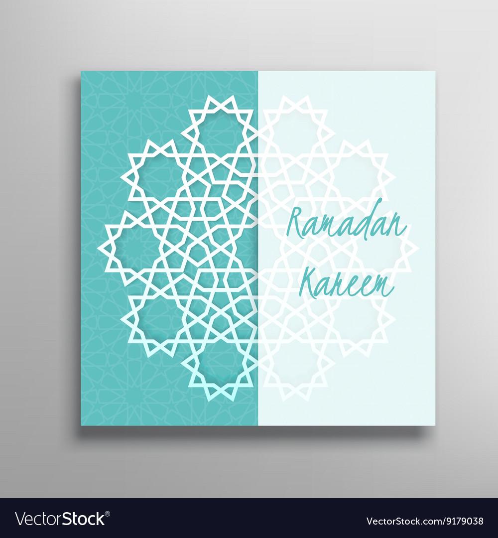 Islamic ramadan greeting card royalty free vector image islamic ramadan greeting card vector image kristyandbryce Image collections