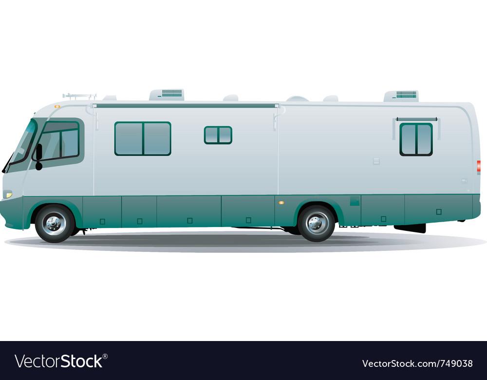 Motorhome camper vehicule vector image