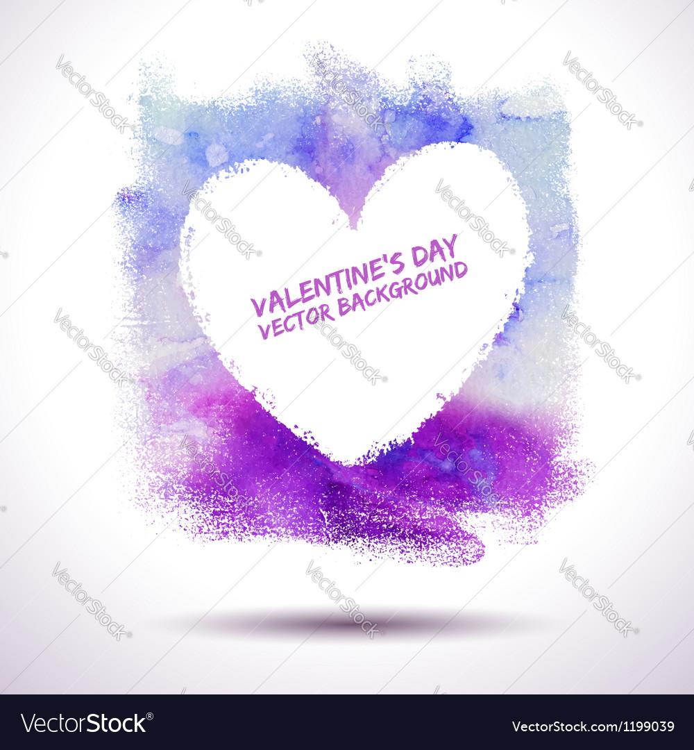 Watercolour heart Vector Image