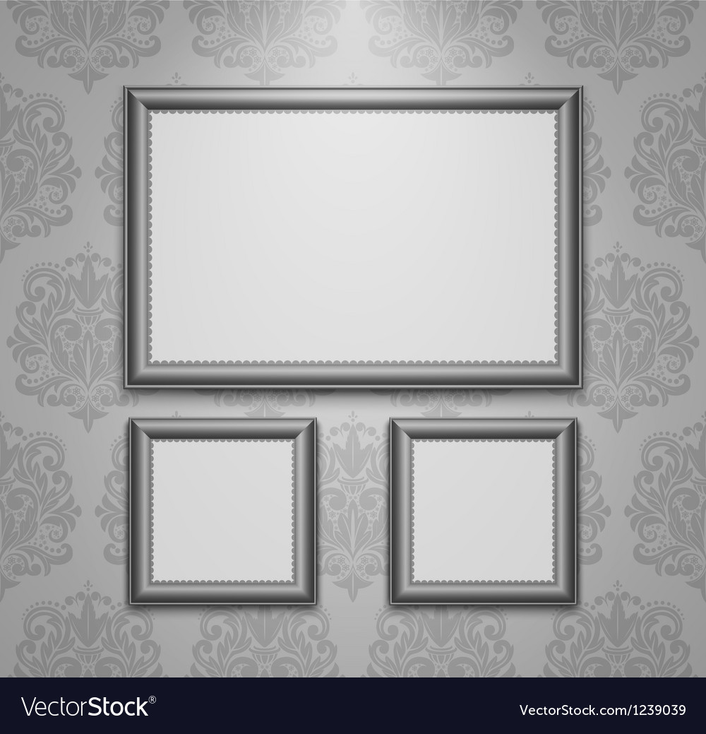 Empty frames on the wall vector image