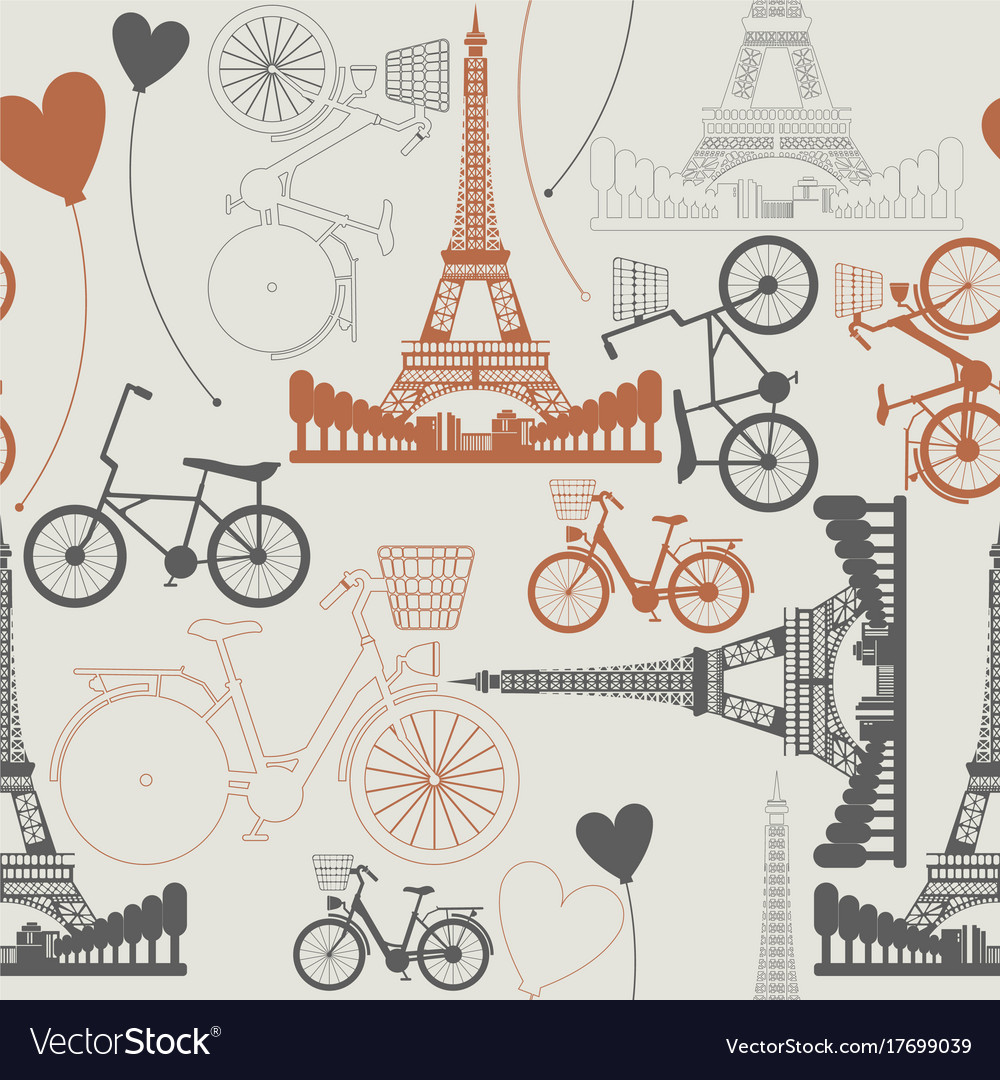 Few symbols of france as endless pattern vector image few symbols of france as endless pattern vector image biocorpaavc
