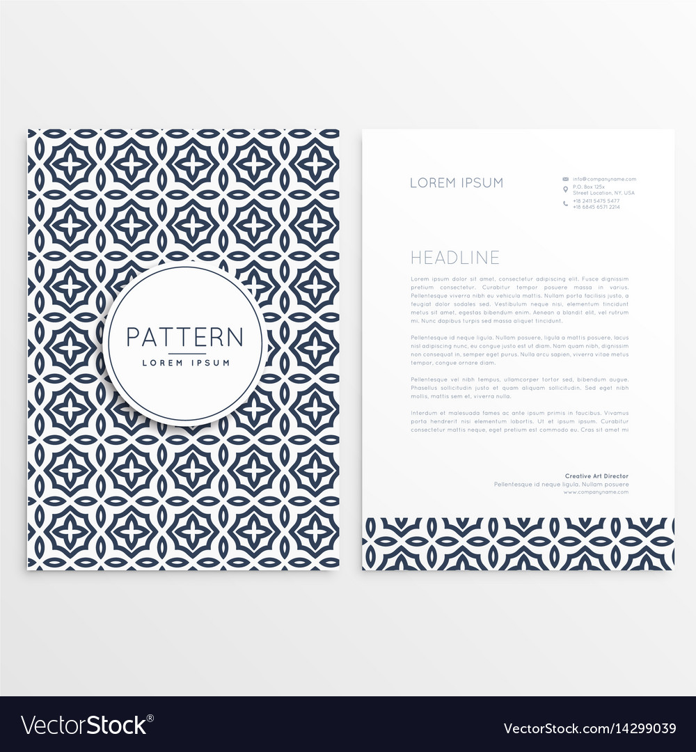 Letterhead cover template brochure vector image