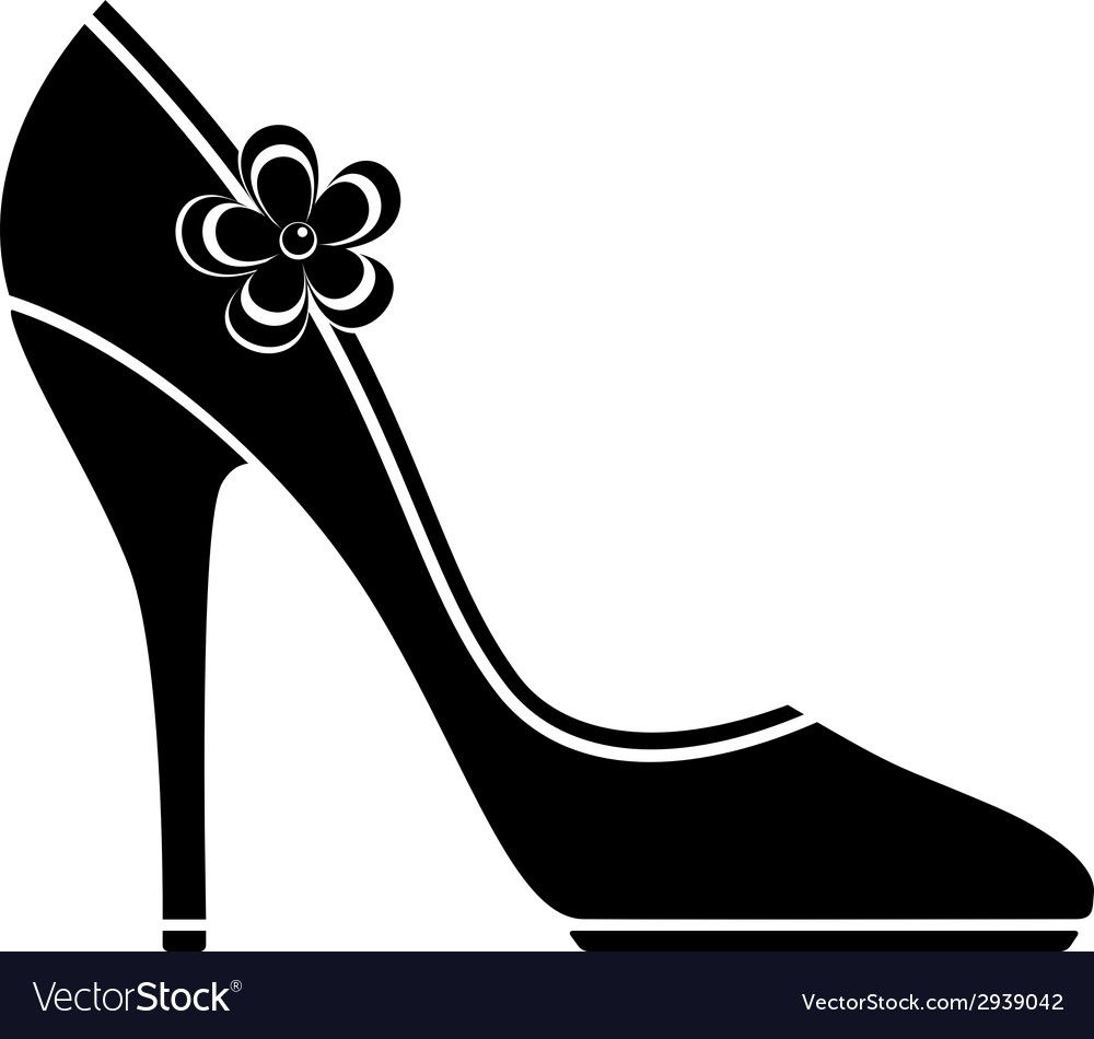 High heel shoes silhouette vector image