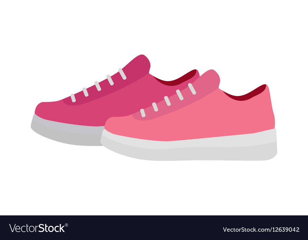 Sport Running Shoes Isolated Footwear for Fitness vector image
