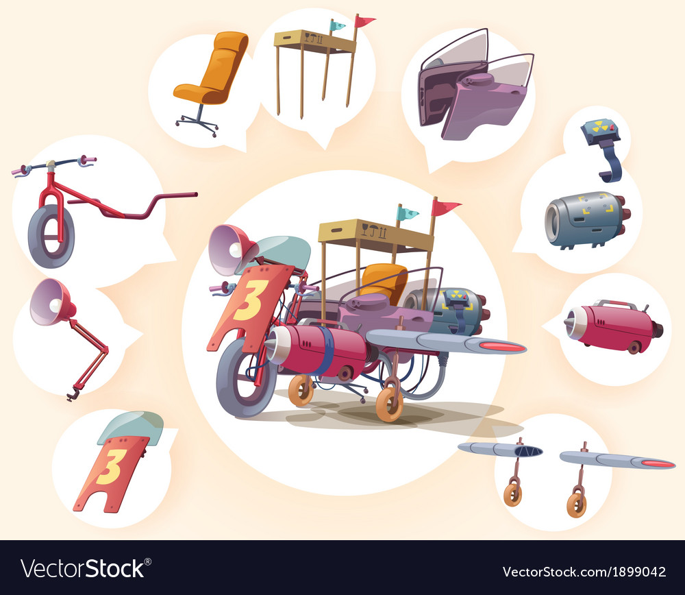 Strange Vehicle vector image