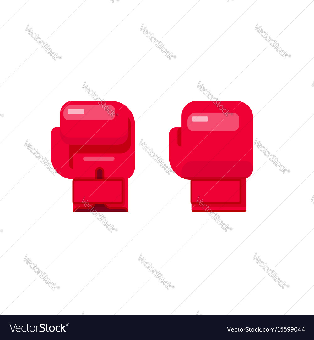 Boxing gloves isolated on vector image