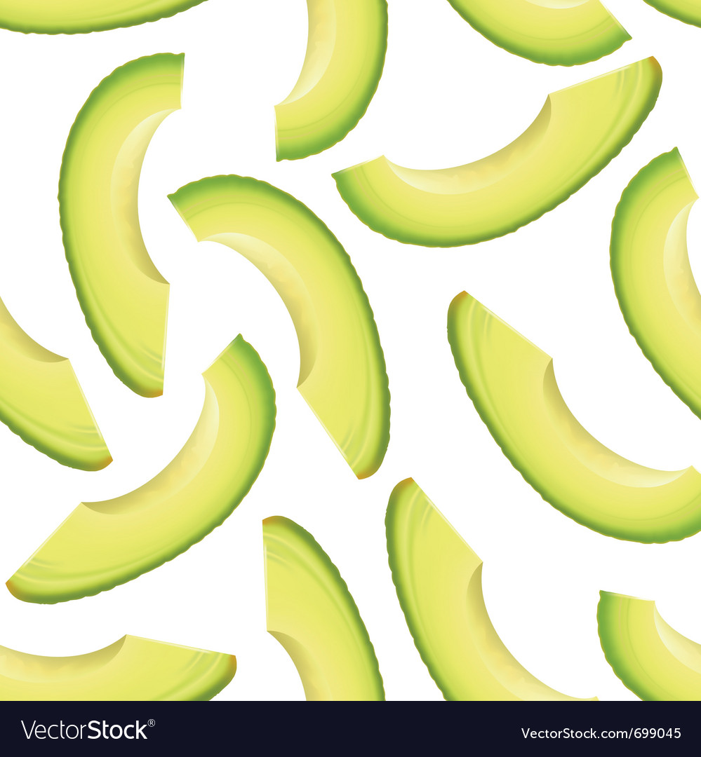 Avocado seamless background vector image