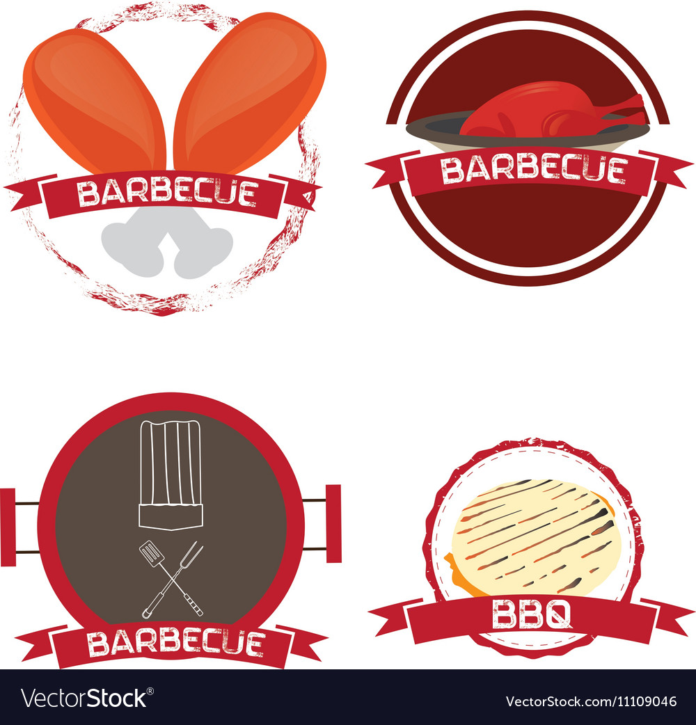 Set of barbecue vector image