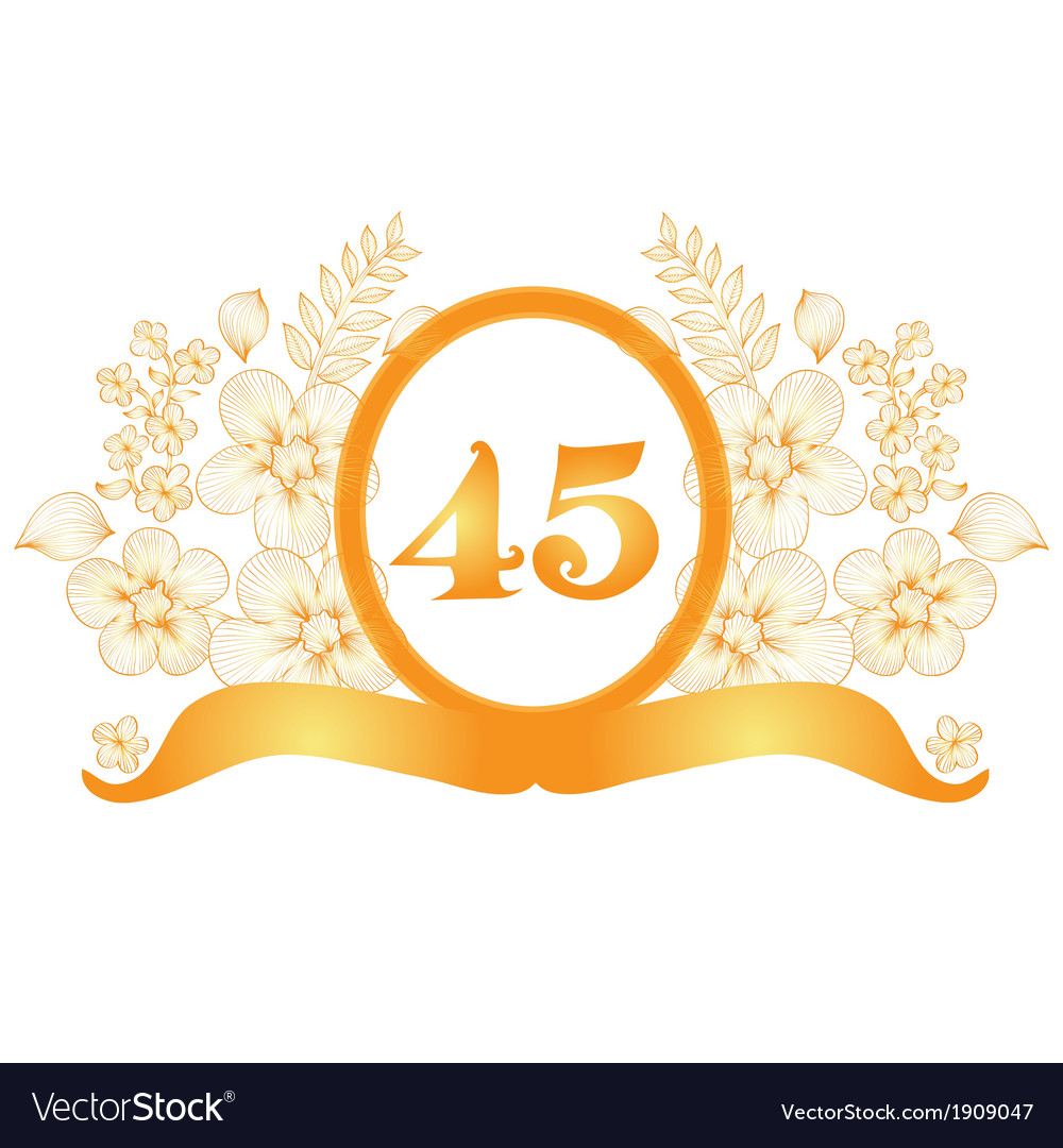 45th anniversary banner vector image