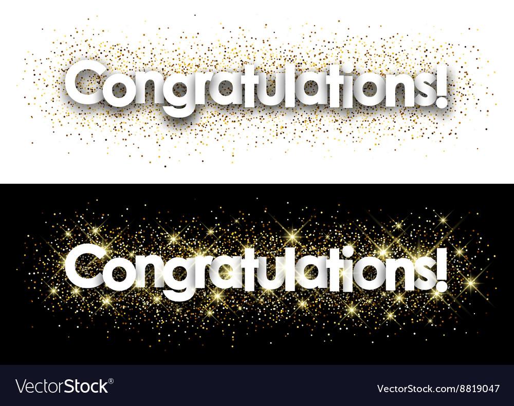 Congratulations paper banner vector image