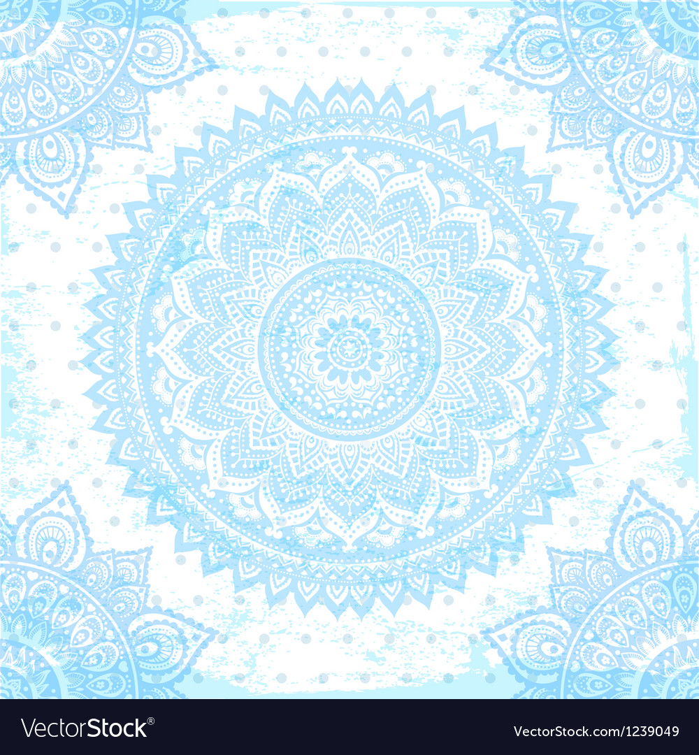 Beautiful Indian ornament vector image