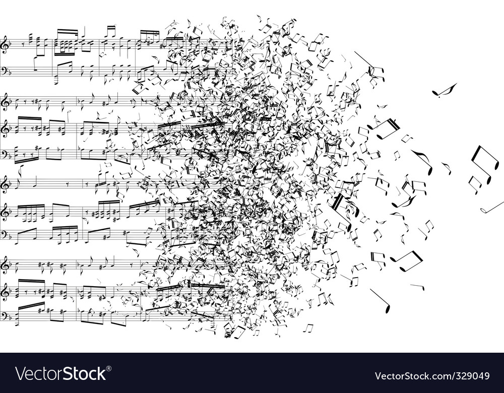 Music chaos vector image