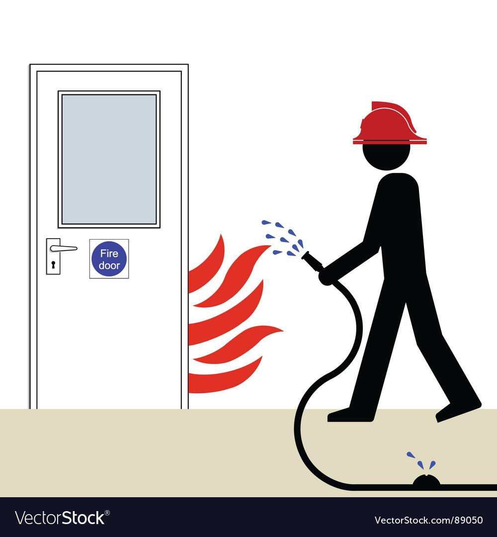 Fire door vector image