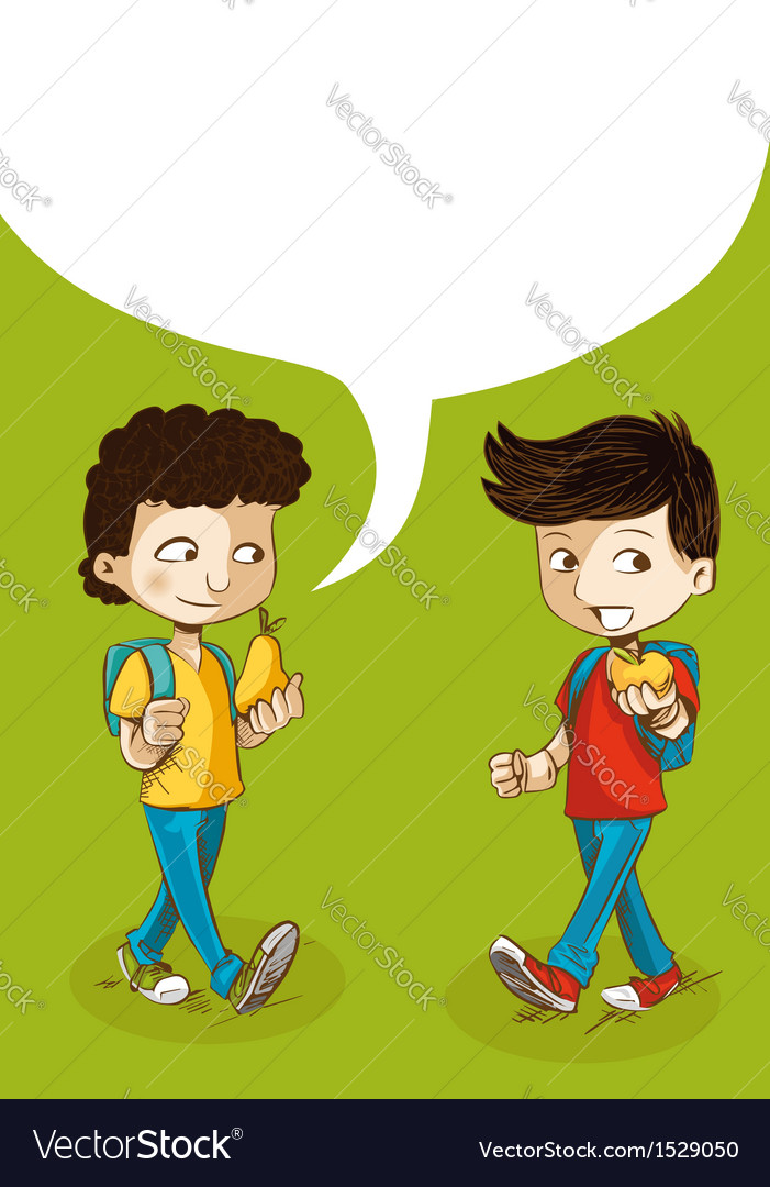 Back to school education kids with social bubble vector image