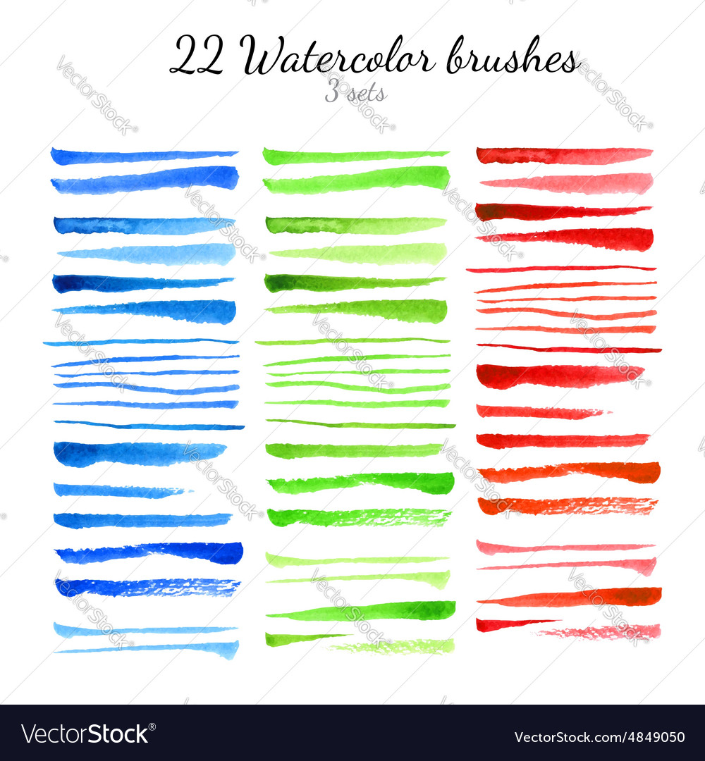 Watercolor brushes vector image