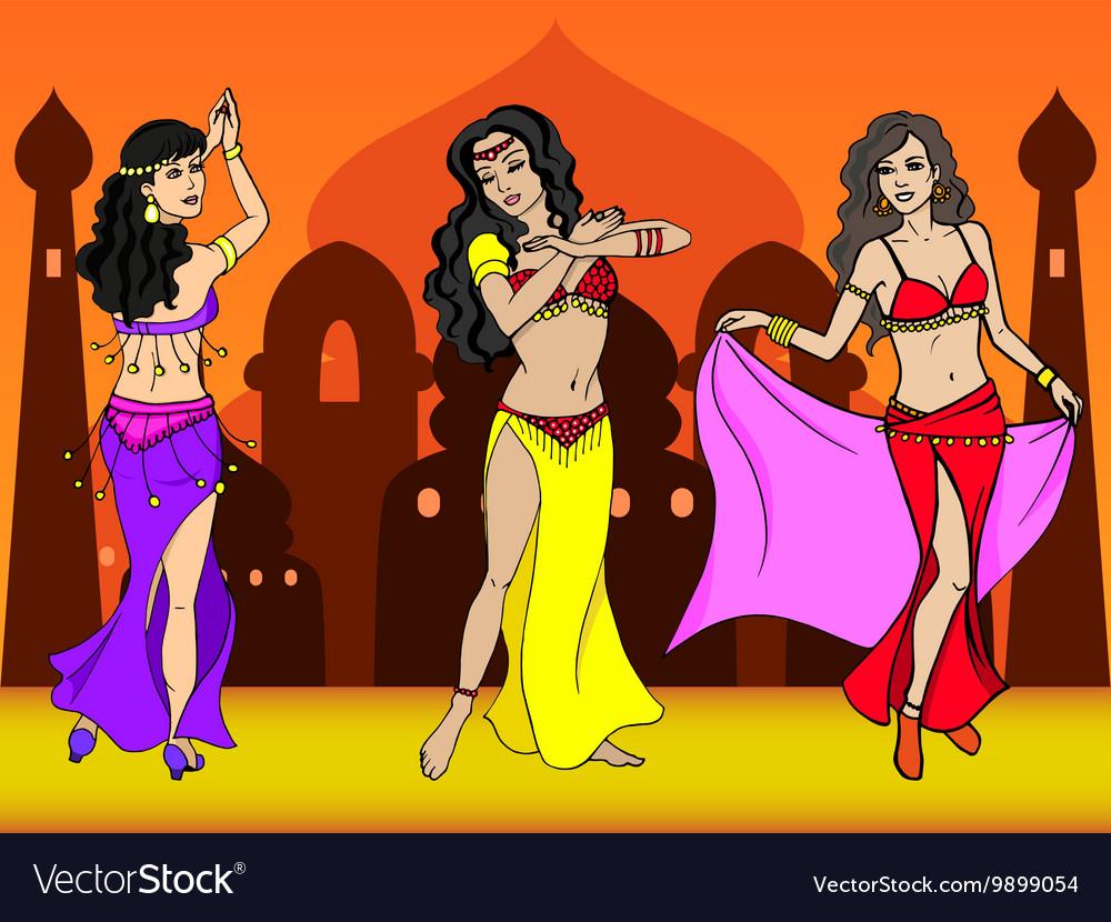 Eastern girl dancer vector image