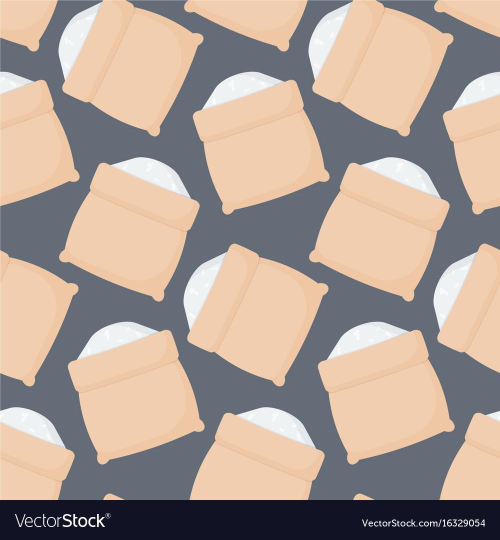 Rice sack seamless pattern vector image