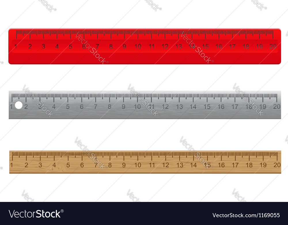 Rulers vector image