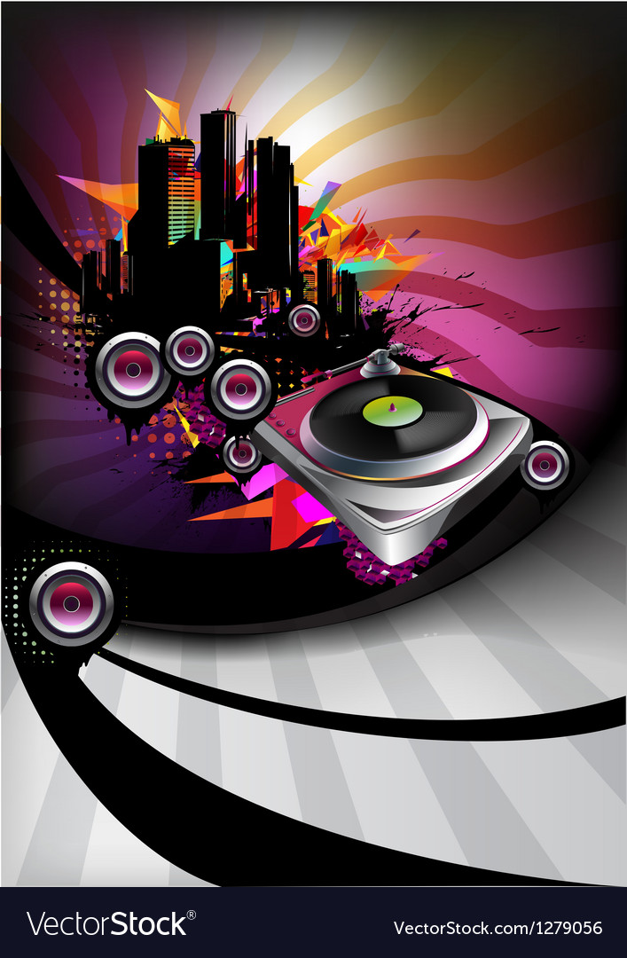Music urban vector image