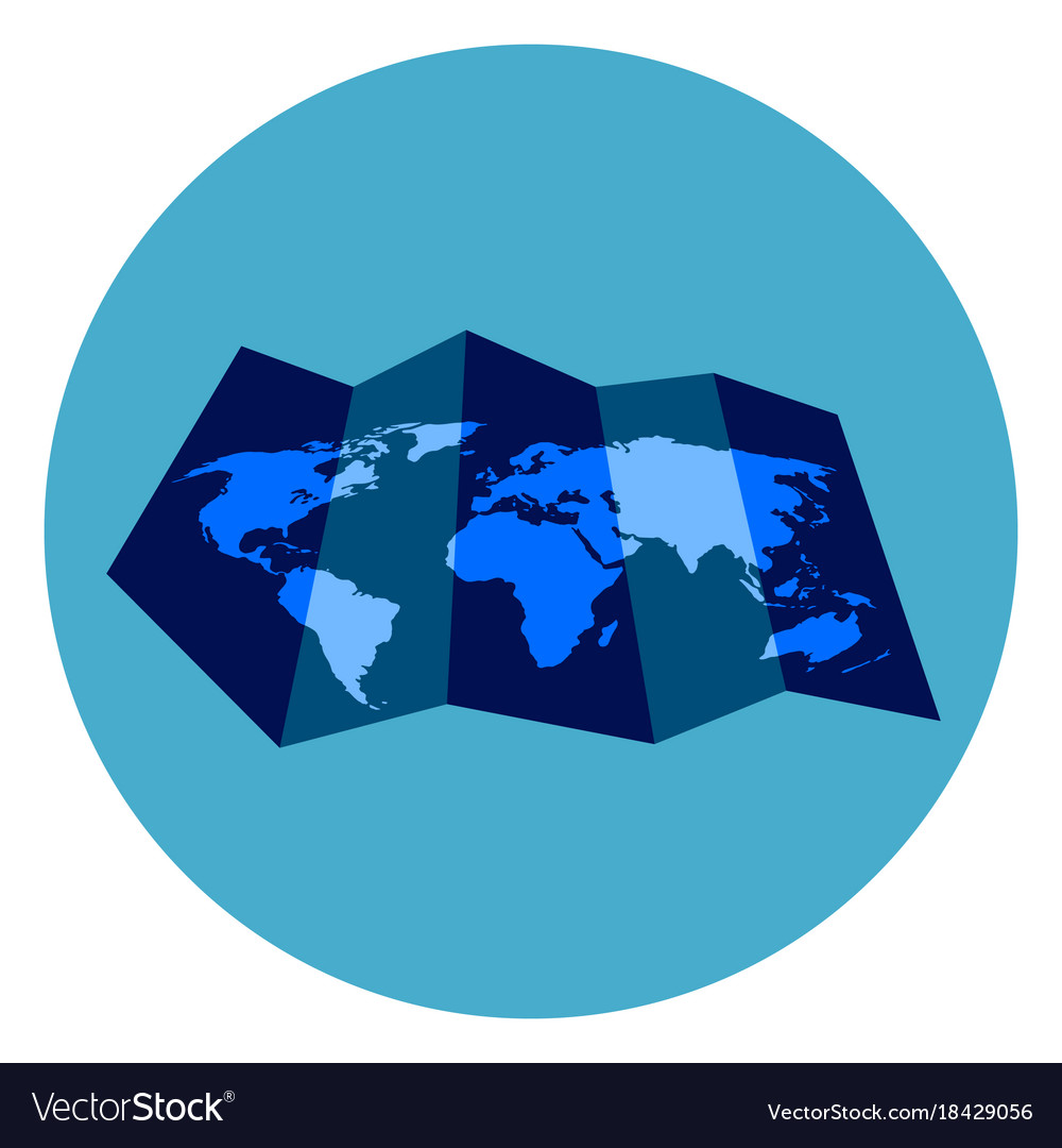 World map icon on round blue background royalty free vector world map icon on round blue background vector image gumiabroncs Image collections